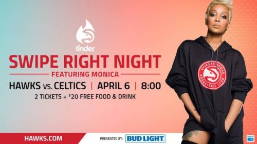 unnamed-1-8-500x281 The Atlanta Hawks & Bud Light Are Set to Sing a New Tune for Swipe Right on April 6 with a Performance by GRAMMY-Winning Artist Monica