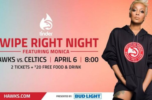 The Atlanta Hawks & Bud Light Are Set to Sing a New Tune for Swipe Right on April 6 with a Performance by GRAMMY-Winning Artist Monica