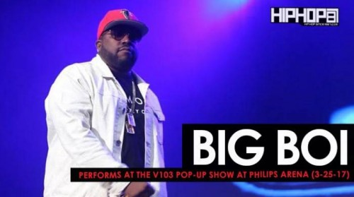 Big-Boi-500x279 Big Boi Performs at the V103 Pop-Up Show at Philips Arena (3-25-17) (Video)