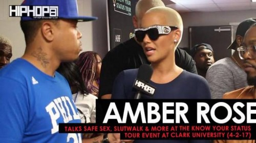 amber-500x279 Amber Rose Talks Safe Sex, Slutwalk & More at the Know Your Status Tour Event at Clark University (4-2-17)