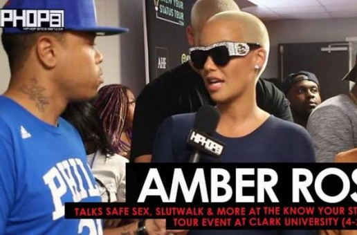 Amber Rose Talks Safe Sex, Slutwalk & More at the Know Your Status Tour Event at Clark University (4-2-17)