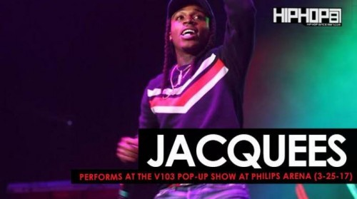"jacquees-500x279 Jacquees Performs ""Bed"" at the V103 Pop-Up Show at Philips Arena (3-25-17) (Video)"