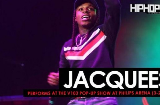 "Jacquees Performs ""Bed"" at the V103 Pop-Up Show at Philips Arena (3-25-17) (Video)"