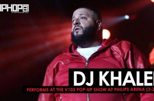 "DJ Khaled Performs ""Shining"", ""For Free"" & More at the V103 Pop-Up Show at Philips Arena (3-25-17) (Video)"