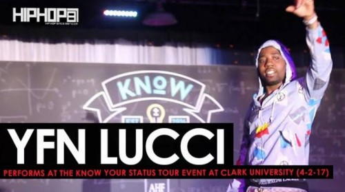 "lucci-performs-500x279 YFN Lucci Performs ""Everyday We Lit"", ""Heartless"" & More at the Know Your Status Tour Event at Clark University (4-20-17) (Video)"