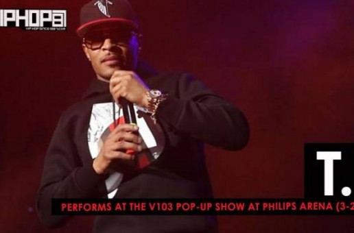 T.I. Performs at the V103 Pop-Up Show at Philips Arena (3-25-17) (Video)