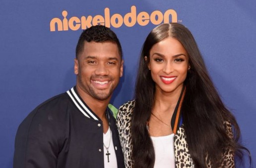 Russell Wilson Seen Playing Baseball With Baby Future!