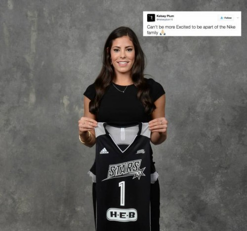 C-iS2ItU0AAlsJo-500x469 San Antonio Stars Rookie/WNBA No. 1 Overall Pick Kelsey Plum Signs With Nike
