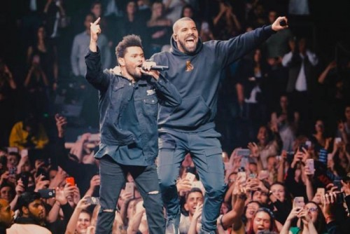 "drakeweeknd-500x334 Drake & The Weeknd Perform ""Crew Love"" For First Time in 3 Years!"