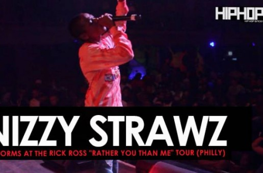 "Nizzy Strawz Performs at The Rick Ross ""Rather You Than Me"" Tour (Philly)"