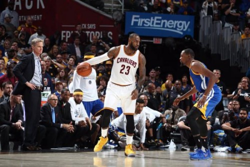 DB7kaaVXgAEkPnu-500x334 Cleveland Rocks: A Record Setting First Half Leads The Cavs to a Game 4 (137-116) Victory vs. Golden State (Video)