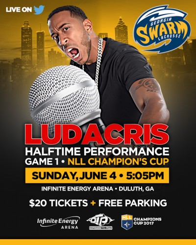 unnamed-400x500 Disturbing The Bees: Ludacris Will Perform at the Georgia Swarm's Championship Game On Sunday
