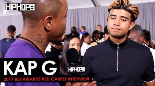 "Kap-G-500x279 Kap G Talks His Upcoming ""Super Jefe"" Tour, Making the 2017 XXL Freshman List, His Future 2017 Endeavors & More on the 2017 BET Awards Red Carpet with HHS1987 (Video)"