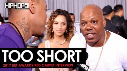 To-Short-500x279 Too Short Talks The Golden State Warriors Championship, Marshawn Lynch's NFL Return, His Upcoming Album & More on the 2017 BET Awards Red Carpet with HHS1987 (Video)