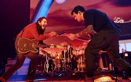 post-malone-john-mayer-500x313 John Mayer Brings Out Post Malone in LA! (Video)