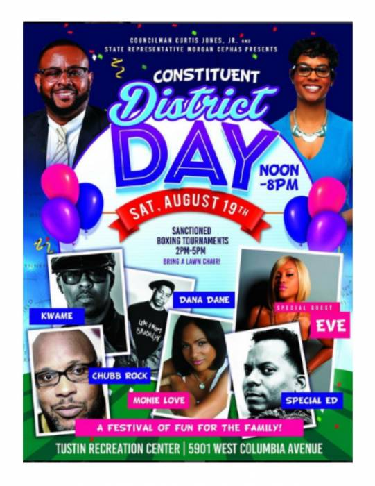 8-19-17-councilman-jones-constituent-day Eve, Special Ed, Chubb Rock, & more to guest appear at Constituent District Day
