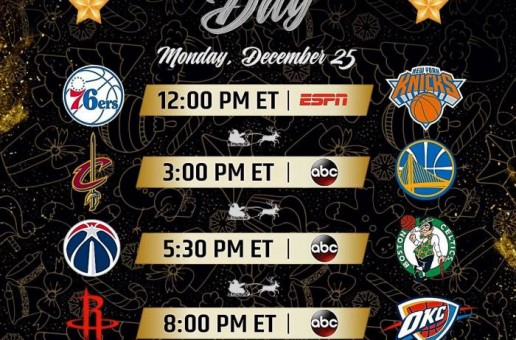 Tis The Season: The NBA Has Released The 2017 Christmas Day Schedule