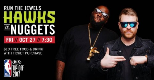 DK6N2AOUMAA5Ypl-500x261 The Atlanta Hawks Will Open the 2017-18 Season with a Special Run the Jewels Concert on Oct. 27