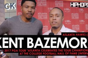 "Atlanta Hawks (F/G) Kent Bazemore Talks His 2017 ""UNO Tournament"", Golfing with His NBA Peers, the Nike ""Statement"" Jerseys & More at the 2017 PGA Tour ""Atlanta Celebrates the TOUR Championship"" at the College Football Hall of Fame"