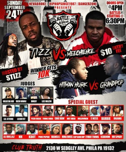Tizz-vs-meechie-hoe-flyer-416x500 The Battle Academy Presents: Tizz Vs. Meechie Hoe (Ticket Link)