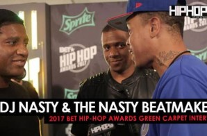 "DJ Nasty & the Nasty Beatmakers Talk Co-Producing ""Wild Thoughts"", Working with DJ Khaled, Miami Marlins star Giancarlo Stanton, Which Major Miami Sports Team Will Bring Miami A Championship Next & More on the 2017 BET Hip-Hop Awards Green Carpet (Video)"