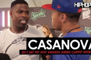 "Casanova Talks His New Record ""Left Right"" Ft. Chris Brown & Fabolous, Meets Big Shaq & More on the 2017 BET Hip-Hop Awards Green Carpet (Video)"