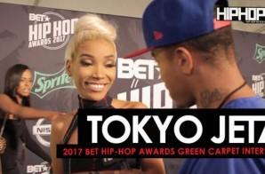 Tokyo Jetz Talks The 2017 BET Cypher, Hustle Gang's 'We Want Smoke' Album, Her Upcoming Project & More on the 2017 BET Hip-Hop Awards Green Carpet (Video)