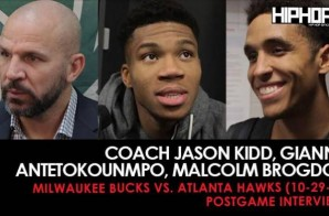 Coach Jason Kidd Talks Team Improvement, Giannis Antetokounmpo Talks MVP Chances, Malcolm Brogdon Talks Playing in Atlanta (Milwaukee Bucks vs. Atlanta Hawks) (10-29-17) (Postgame Interviews)
