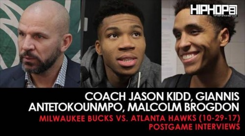 Bucks-recap-500x279 Coach Jason Kidd Talks Team Improvement, Giannis Antetokounmpo Talks MVP Chances, Malcolm Brogdon Talks Playing in Atlanta (Milwaukee Bucks vs. Atlanta Hawks) (10-29-17) (Postgame Interviews)