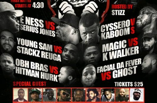 The Battle Academy Presents E.Ness Vs. Serius Jones & Cysserro Vs. Kaboom (Ticket Link)