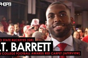 Ohio State Buckeyes (QB) J.T. Barrett Talks LeBron James, His Favorite Nike LeBron Cleats, the Cotton Bowl & More at the ESPN College Football Awards Red Carpet (Video)