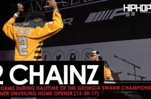 "2 Chainz Performs ""No Problem"", ""That's a Vibe"" ""4am"" & More during Halftime of the Georgia Swarm Game (Video)"