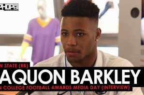 Penn State (RB) Saquon Barkley Talks The NFL, Penn State Football, Coach Franklin & More (Video)