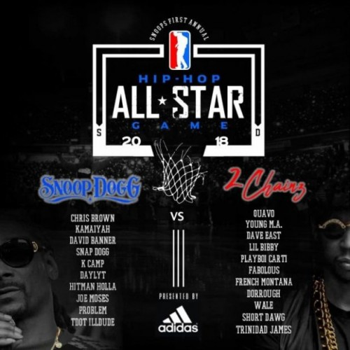 HipHop-basketball-500x500 2 Chainz & Snoop Dogg Announce The 2018 Hip Hop All-Star Basketball Team Rosters