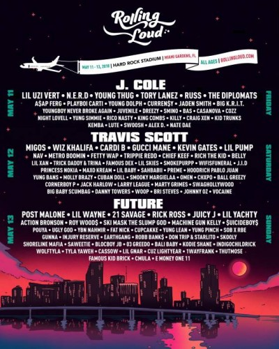 RL18-FINAL-400x500 J. Cole, Travis Scott, Future to Headline the Fourth Annual Rolling Loud Miami Festival
