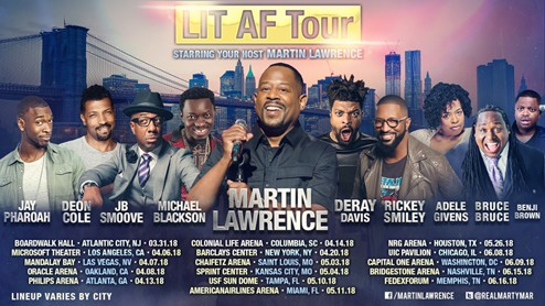 Comedy Is Coming To The Highlight Factory: Martin Lawrence to Host 'Lit AF Tour' at Philips Arena (Friday April 13)