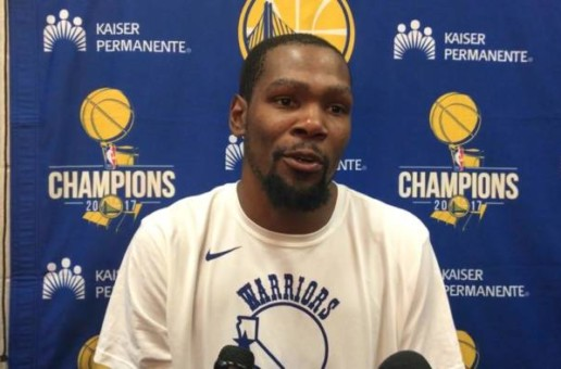 Kevin Durant Talks Giving His Jersey To Quavo, Steph Curry Ankle Injury, Facing The Atlanta Hawks & More (Video)
