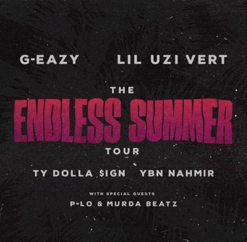endlesssummer-500x491 G-Eazy & Lil Uzi Vert Return With Ty Dolla $ign & More For 'The Endless Summer' Tour!
