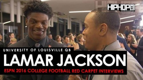 Lamar Jackson Talks The 2018 NFL Draft, Mike Vick Comparisons & More w/ Terrell Thomas (Video)
