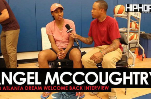 Angel McCoughtry Talks Her Return to the WNBA, Joining Team Adidas, the 2018 NBA Playoffs & More (2018 Atlanta Dream Welcome Back Interview)
