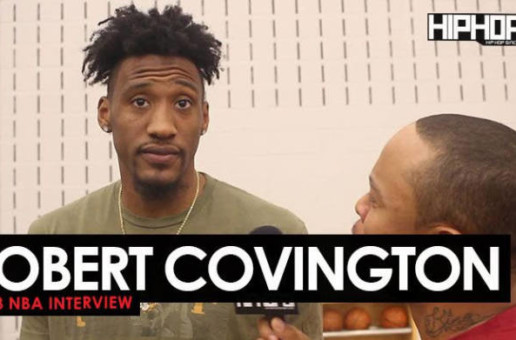 Robert Covington Talks the Sixers 2017-18 Season, Meek Mill, Custom Sneakers Made by Kickstradomis & More (2018 NBA Interview)