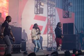 "Migos Perform ""Walk It Like I Talk It"" During Surprise Concert at EA Play in Hollywood (Video)"