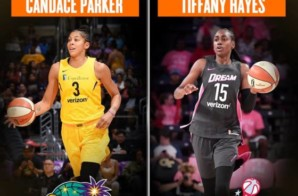 Atlanta Dream Star Tiffany Hayes & L.A. Sparks Star Candace Parker Named the WNBA's Eastern and Western Conference Players of the Week