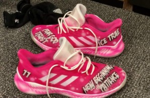 "Trae Young Shows Off His Kickstradomis Created ""Breast Cancer Awareness Ice Trae"" Custom Harden B/E 2 (VIDEO)"