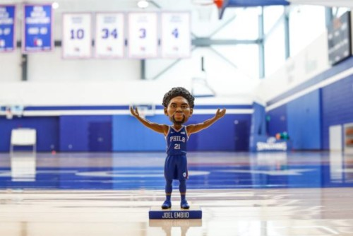 joel--500x334 The Delaware Blue Coats Launch Joel Embiid Bobblehead Promotion For First Home Opener