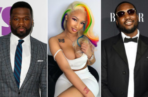 50 Cent And Meek Mill Troll 6IX9INE's Girlfriend Over Tattoo
