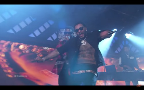 "Screen-Shot-2018-12-05-at-4.35.26-PM-500x313 Gucci Mane & Kevin Gates Perform ""I'm Not Goin"" On Jimmy Kimmel Live! (Video)"