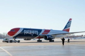 The New England Patriots' Arrival at Hartsfield-Jackson International Airport in Atlanta for SBLIII