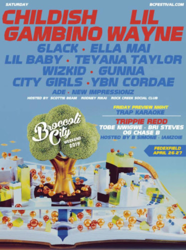 unnamed-1-3-372x500 Childish Gambino, Lil Wayne, Ella Mai, 6lack, Lil Baby, Teyana Taylor & More to Perform at Broccoli City Festival '19!