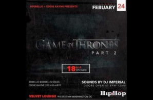 20Bello / Eddie Kayne presents the Game of Thrones concert recap feat on HipHop since 1987